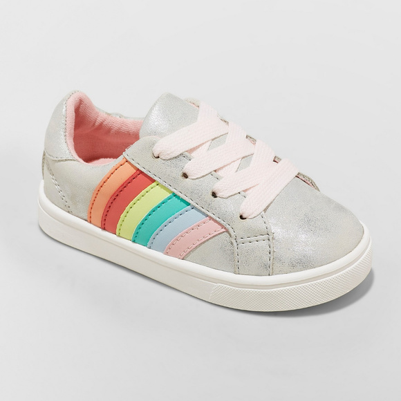 Toddler Girls Silver Rainbow Sneakers